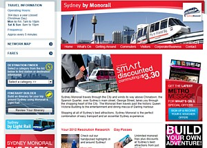 Monorail normal web site March 2012 from the Internet Archive